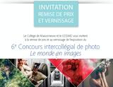 Remise de prix et vernissage du Concours intercollégial de photo